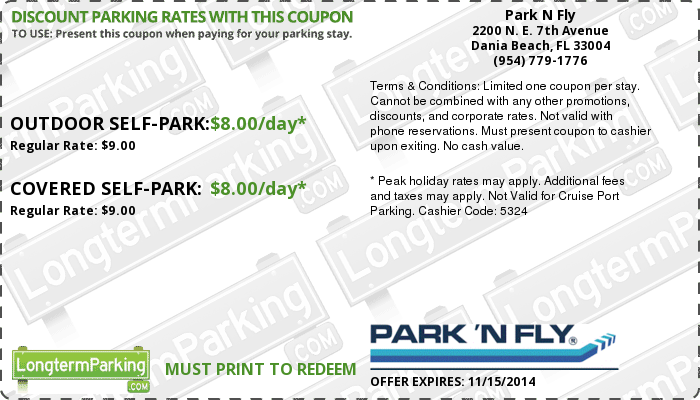 Find Park 'N Fly Promotional Codes, Park 'N Fly Coupon Codes and Park 'N Fly.